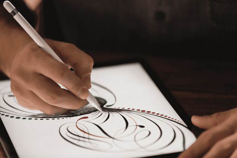 The iPad Pro supports the all-new Apple Pencil, a stylus created the Apple way.