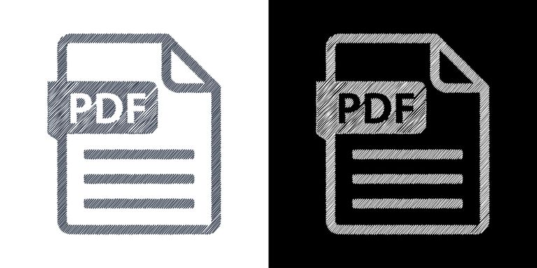 PDF Files black and white