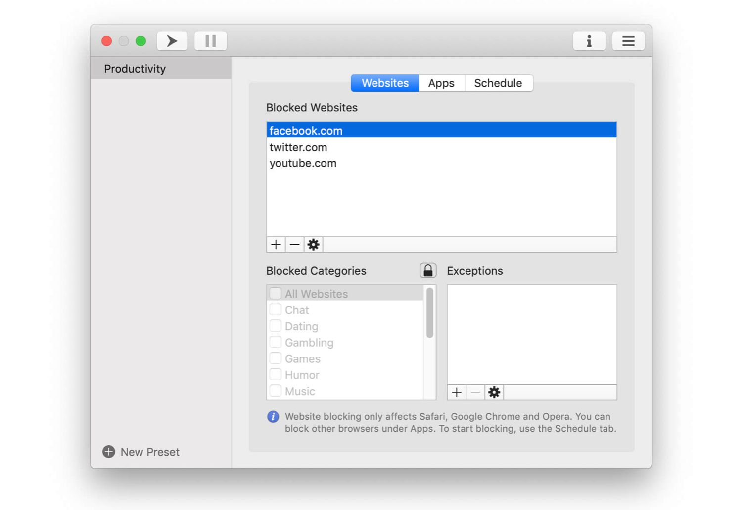 1Focus app for macOS