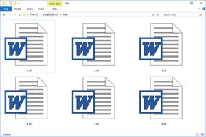 RTF files in a Windows 10 folder