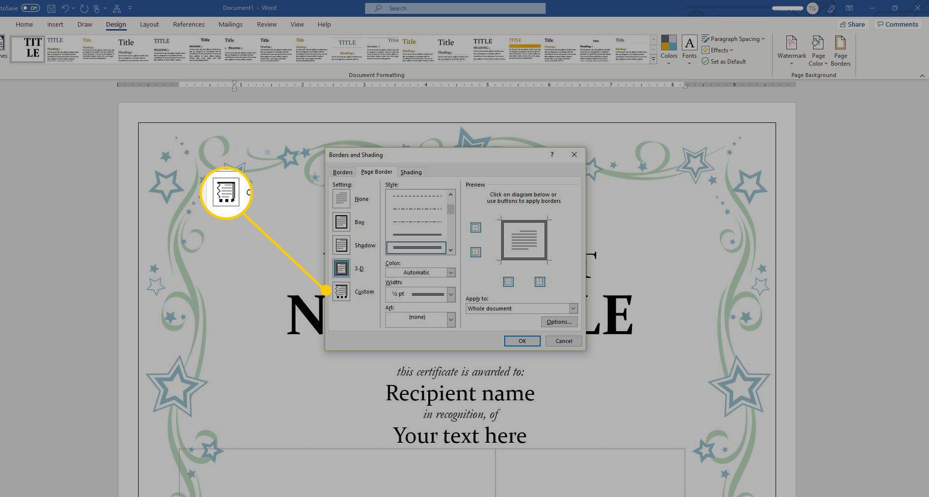 using a certificate template in microsoft word a certificate template in microsoft word