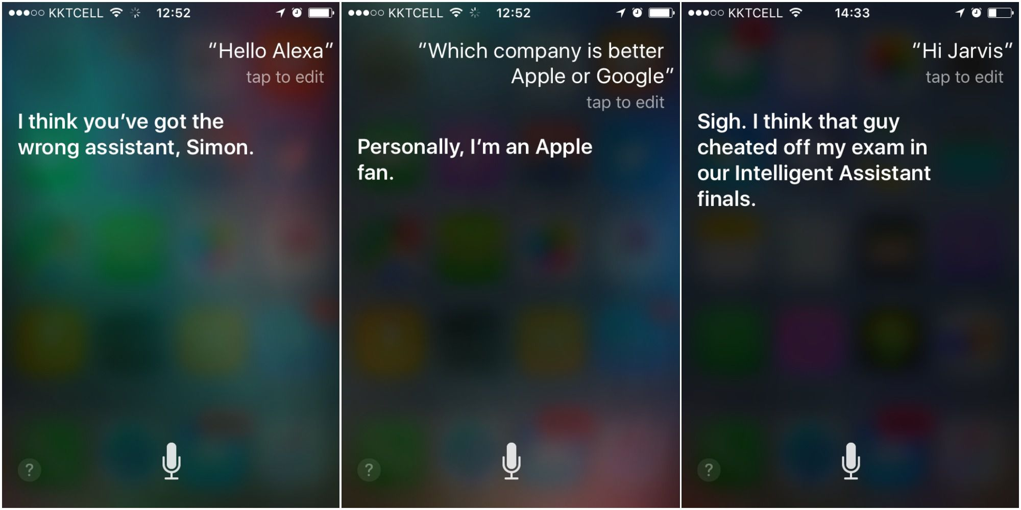 Siri being mistaken for another assistant
