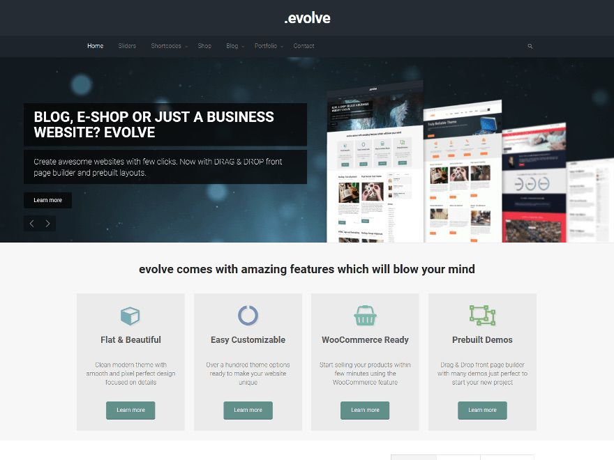 10 of the best free mobile responsive wordpress themes a screenshot of the evolve wordpress theme cheaphphosting