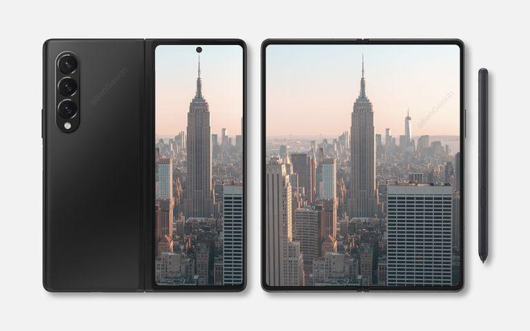 Samsung Galaxy Z Fold 3 renders