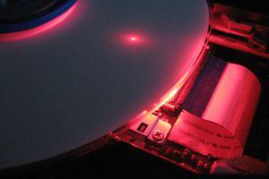 Cutaway of a DVD burner