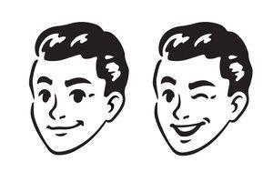 B&W clip art of a man's head.