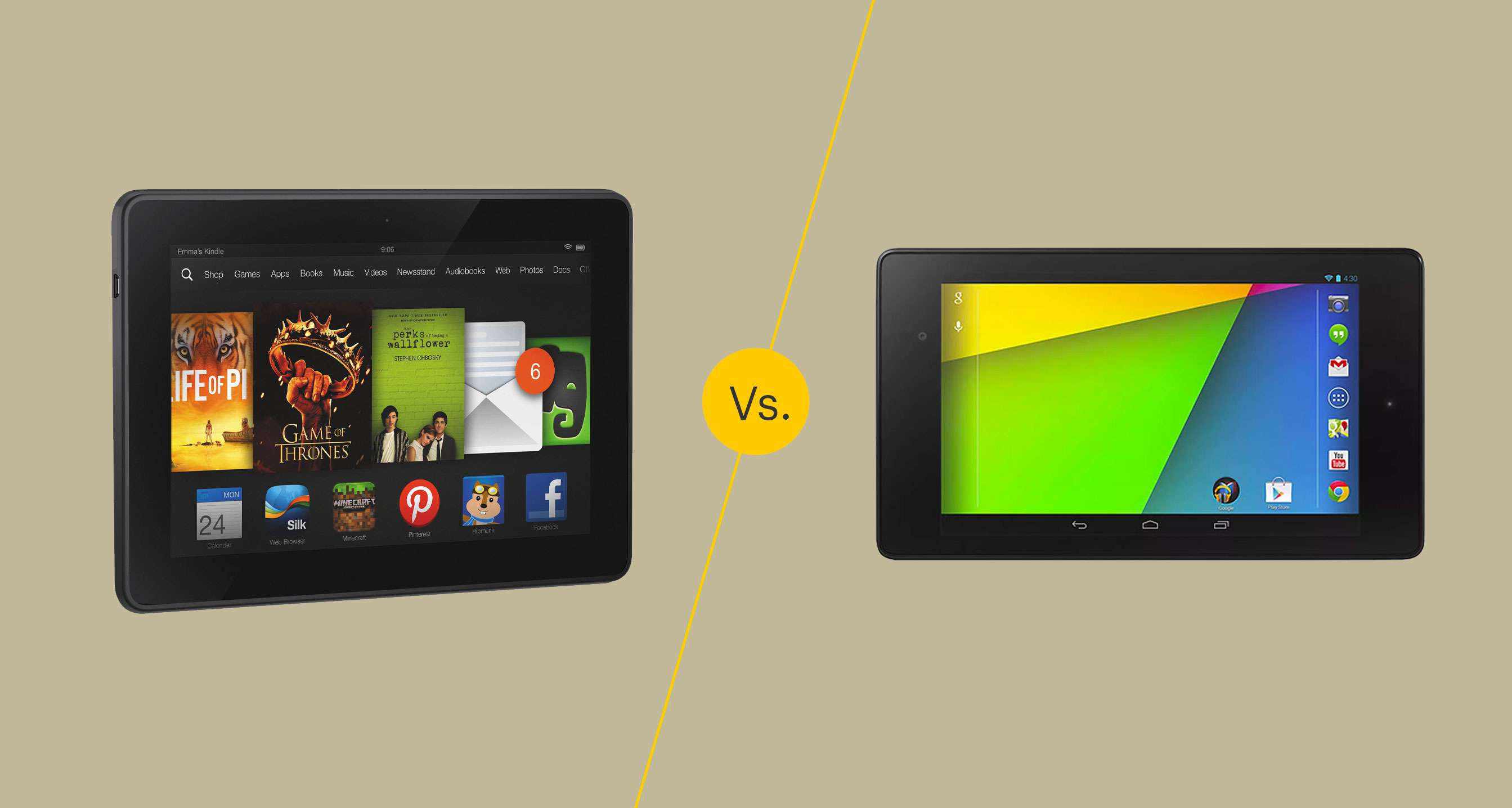 Kindle Fire Hdx 7 Vs Nexus 7