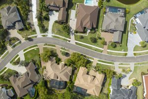 Image of a satellite neighborhood view