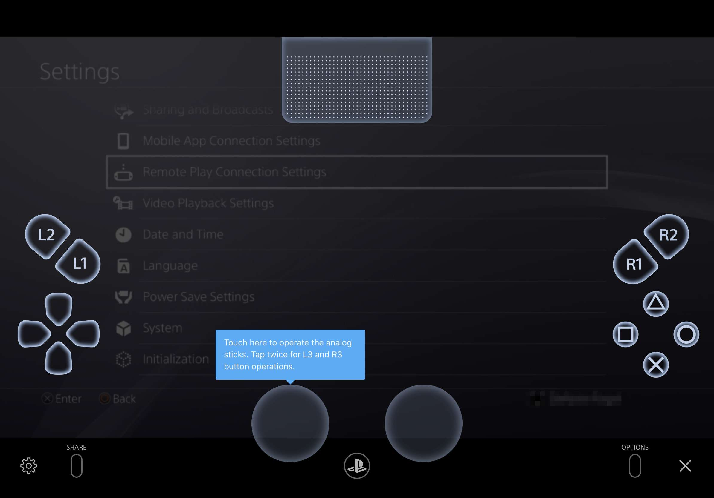 A digital approximation of the Dualshock controller appears in the PS4 Remote Play app