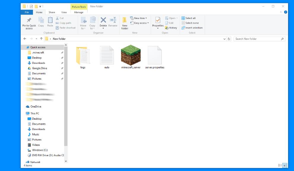 Minecraft Server Folder