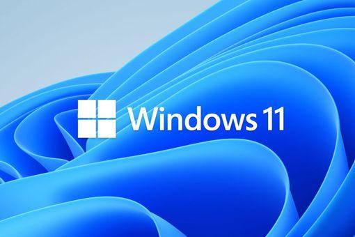 Windows 11 on blue background