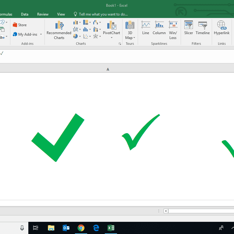 How to Insert a Check Mark in Excel