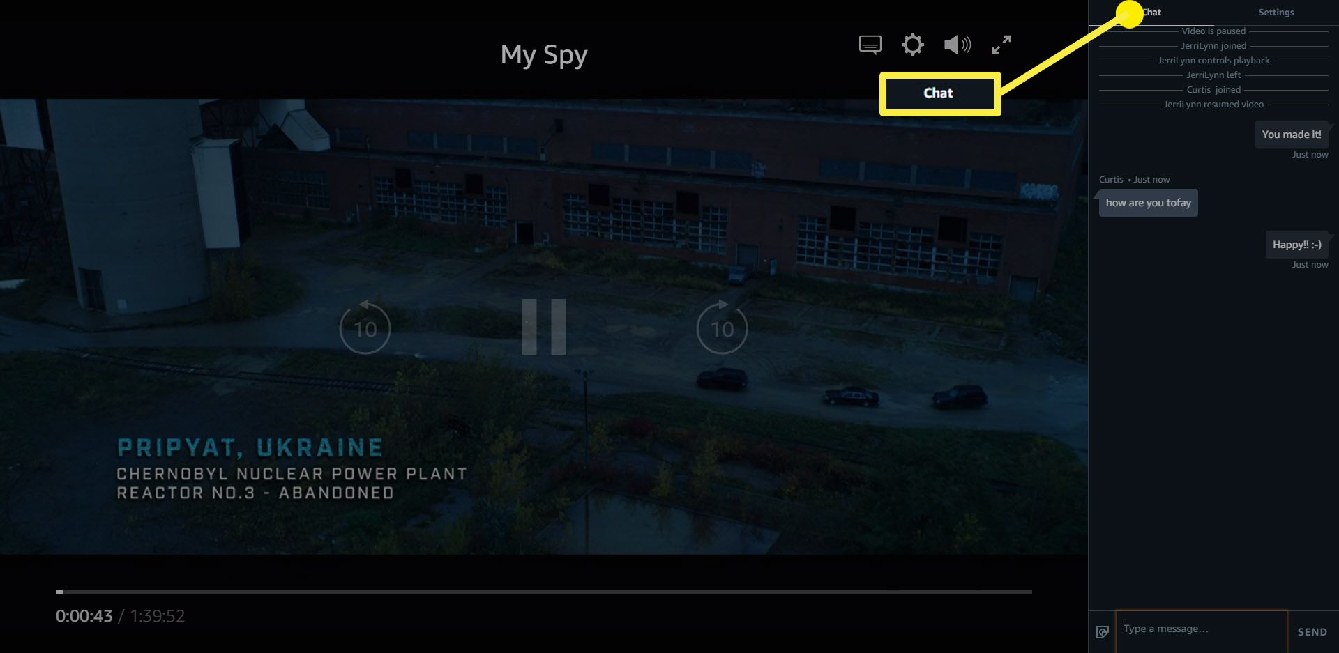 How to chat with others in your Amazon Prime Video Watch Party.