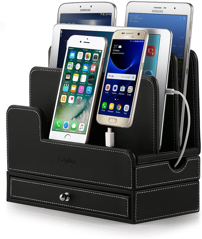 The EasyAcc Charging station can charge your devices.