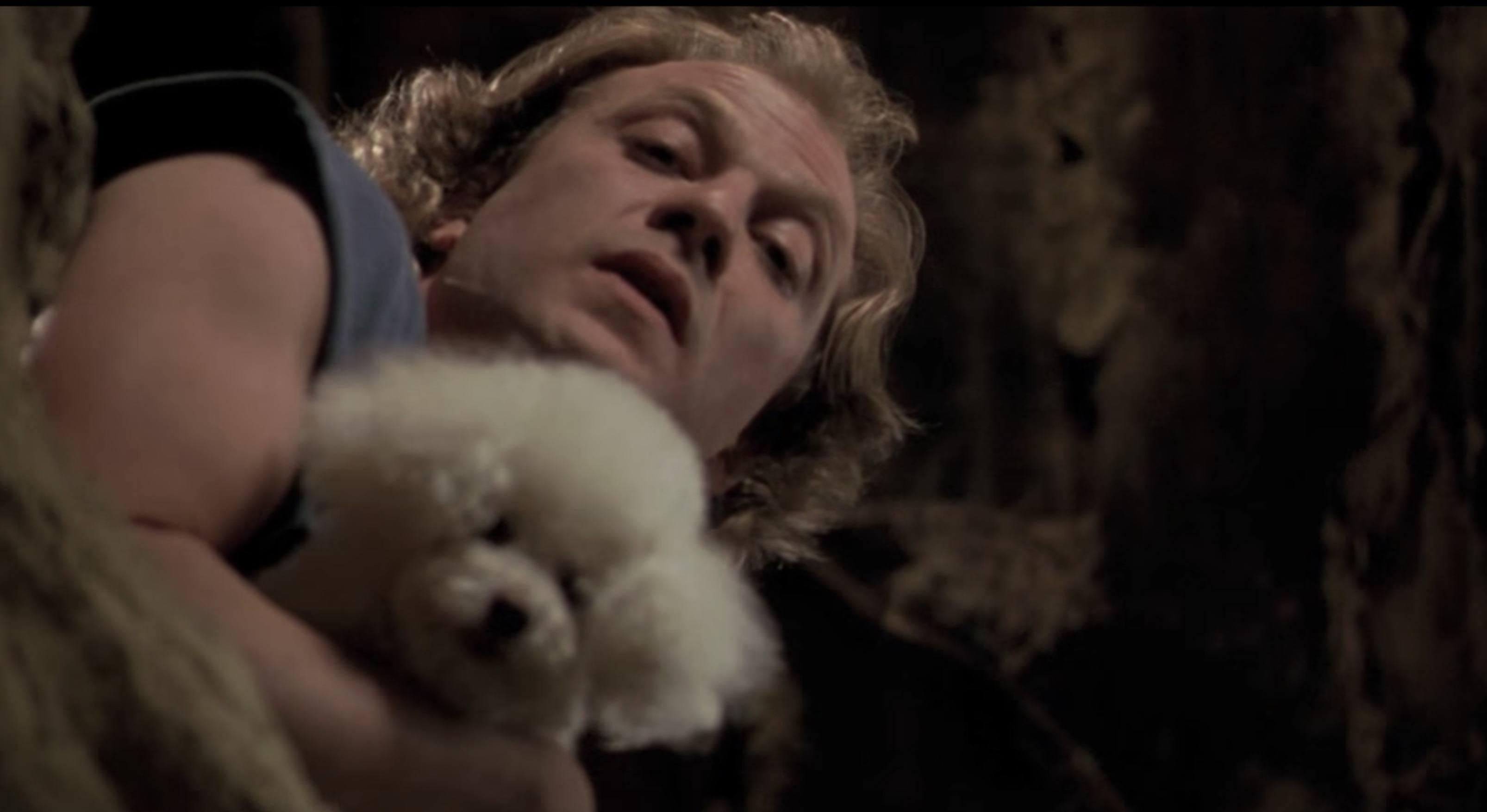 Buffalo Bill telling victim to rub the lotion on its skin