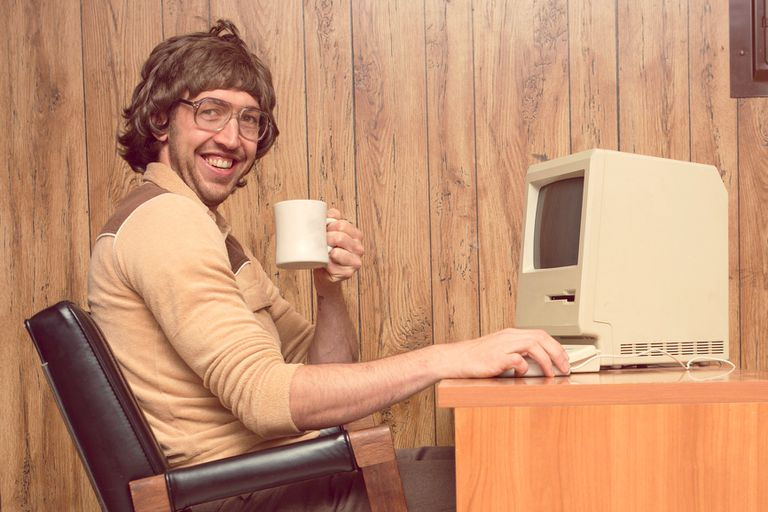 1980s guy and computer