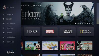 Screenshot of Disney+ on Apple TV
