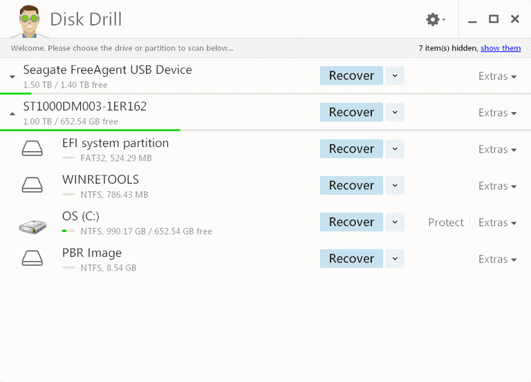 Screenshot of Disk Drill v2.0 in Windows 8