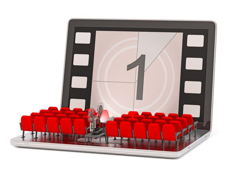 Illustration of movie theatre seats on computer