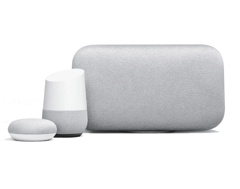 image of Google Home speakers
