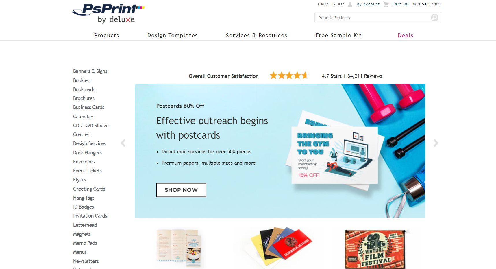 The PsPrint homepage
