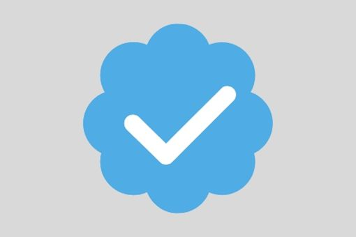 An image graphic of Twitter's blue verification checkmark icon.