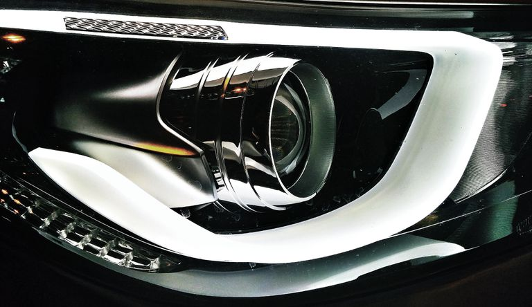 Close-Up Of Car Headlight