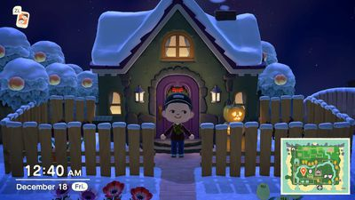 A player's house in Animal Crossing: New Horizons