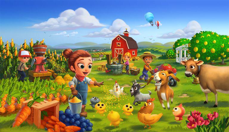 FarmVille scene