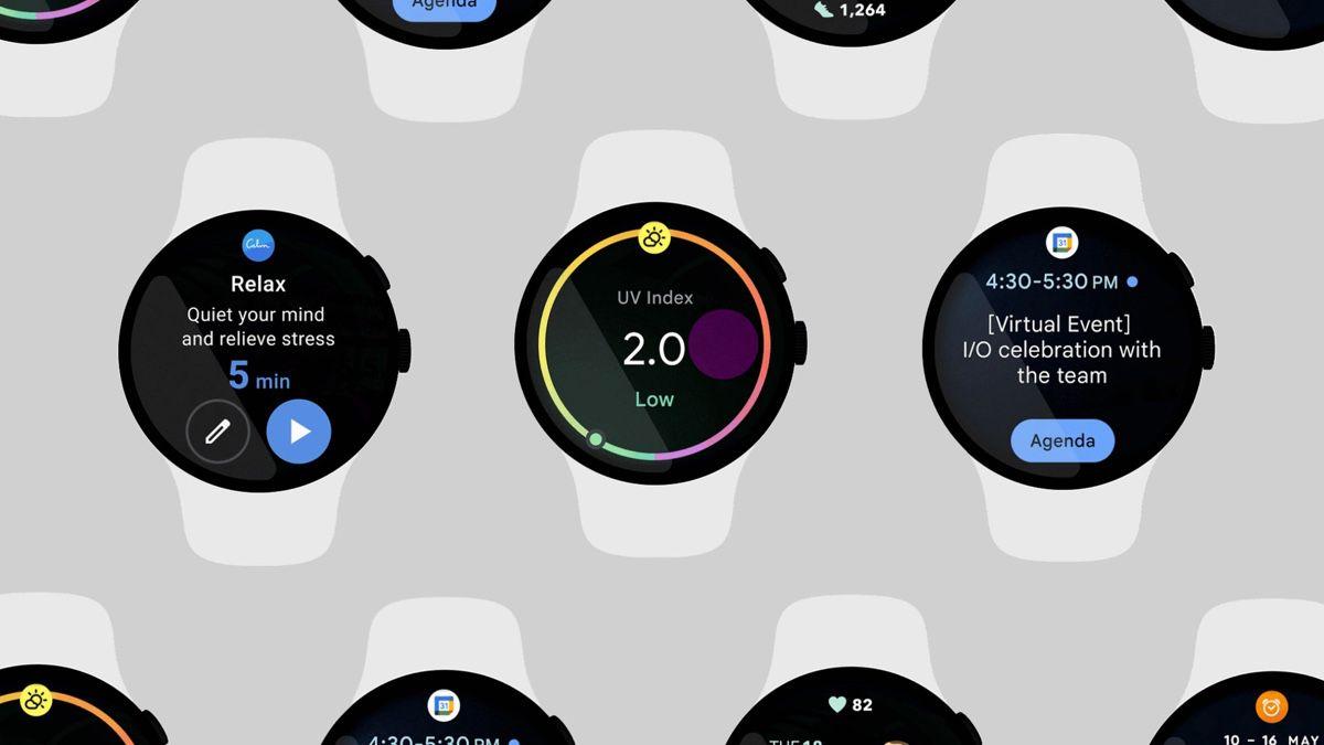 Wear OS rendered smartwatches