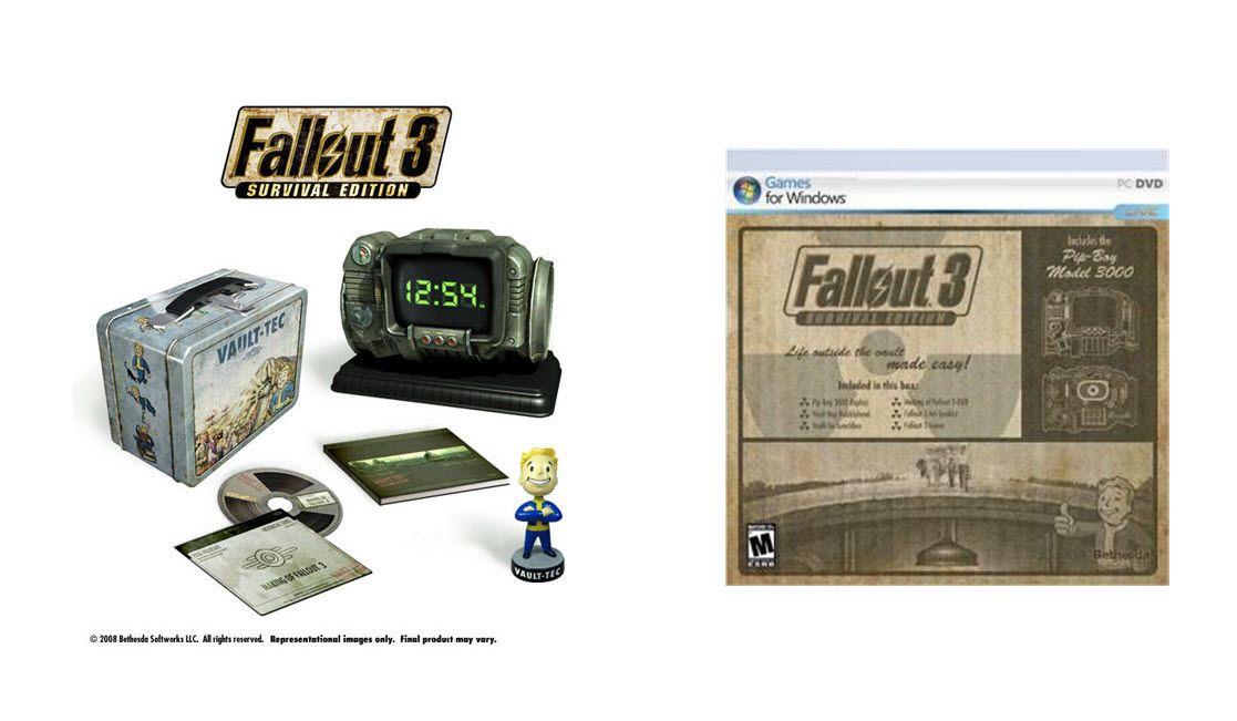Fallout 3 Survival Edition Contens & Box