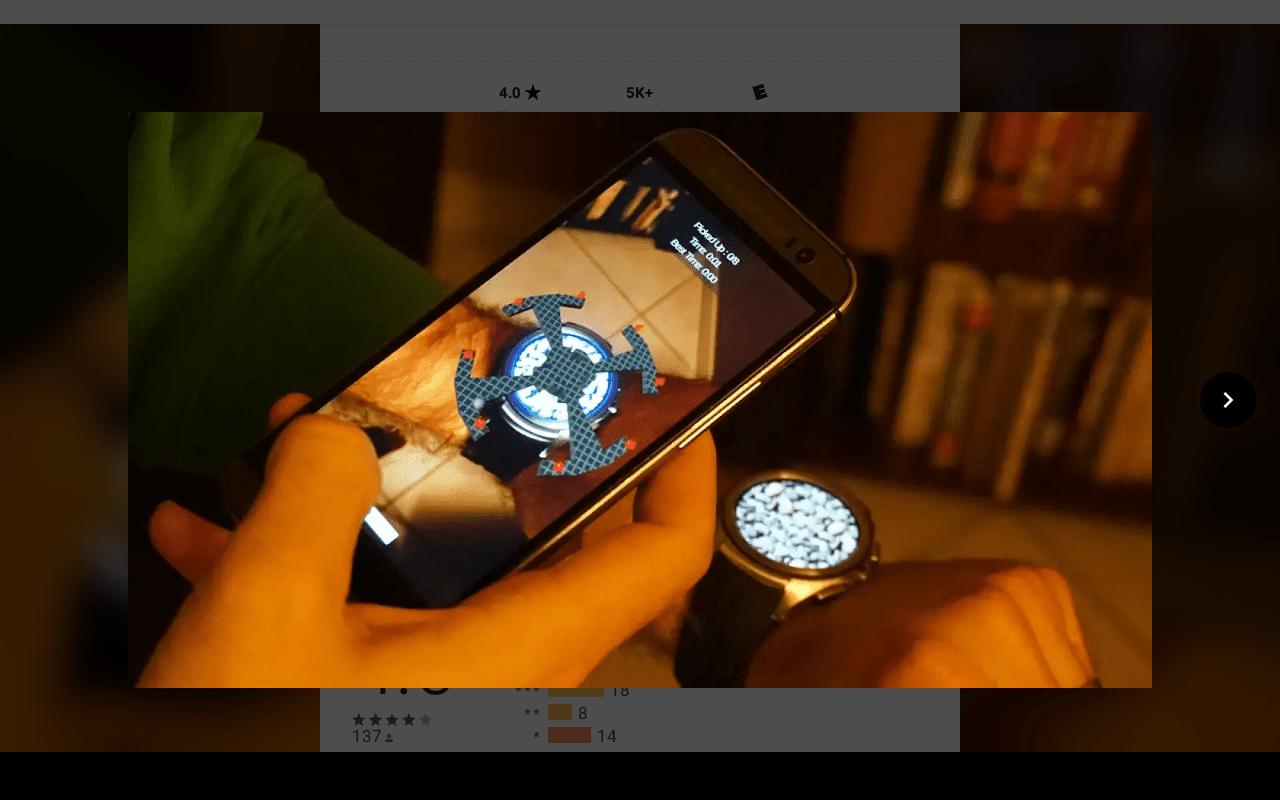 Tilt on the Google Play store for Wear OS