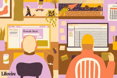 Illustration of people using AnyDesk