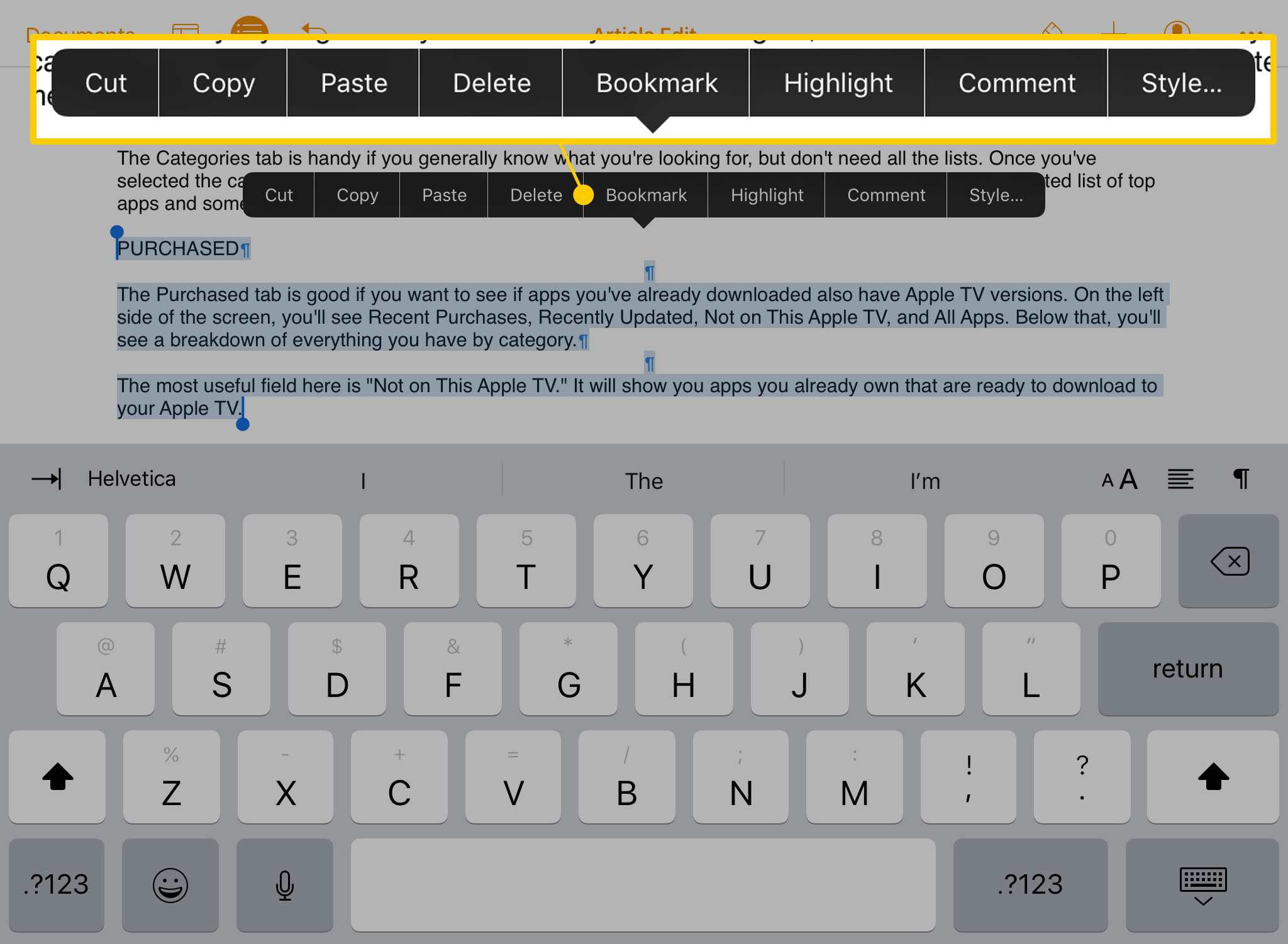 How to Copy and Paste Text on the iPad