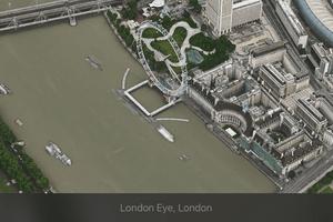 Overhead view of London Eye, London