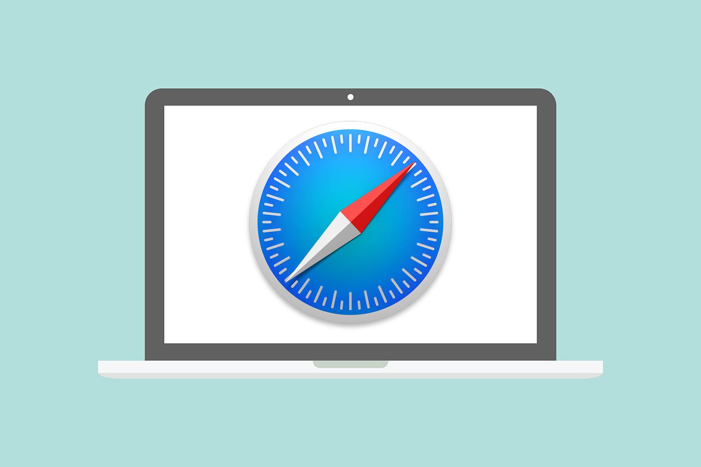 Safari icon on laptop screen