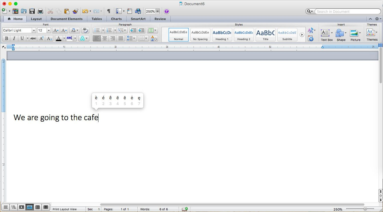 Adding accents in Word is super easy if you're a Mac user.
