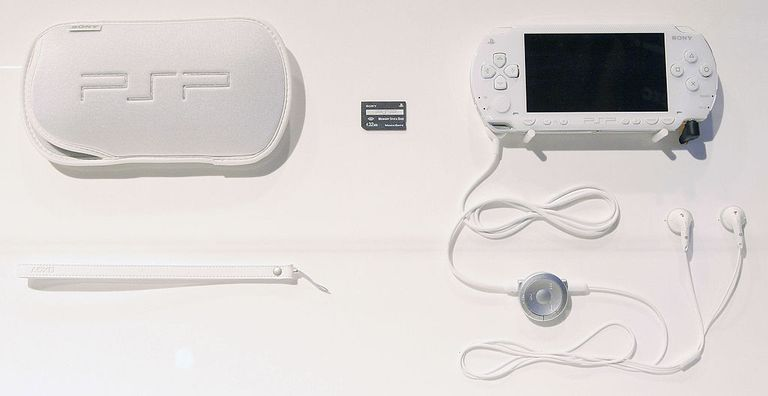 White PSP product shot