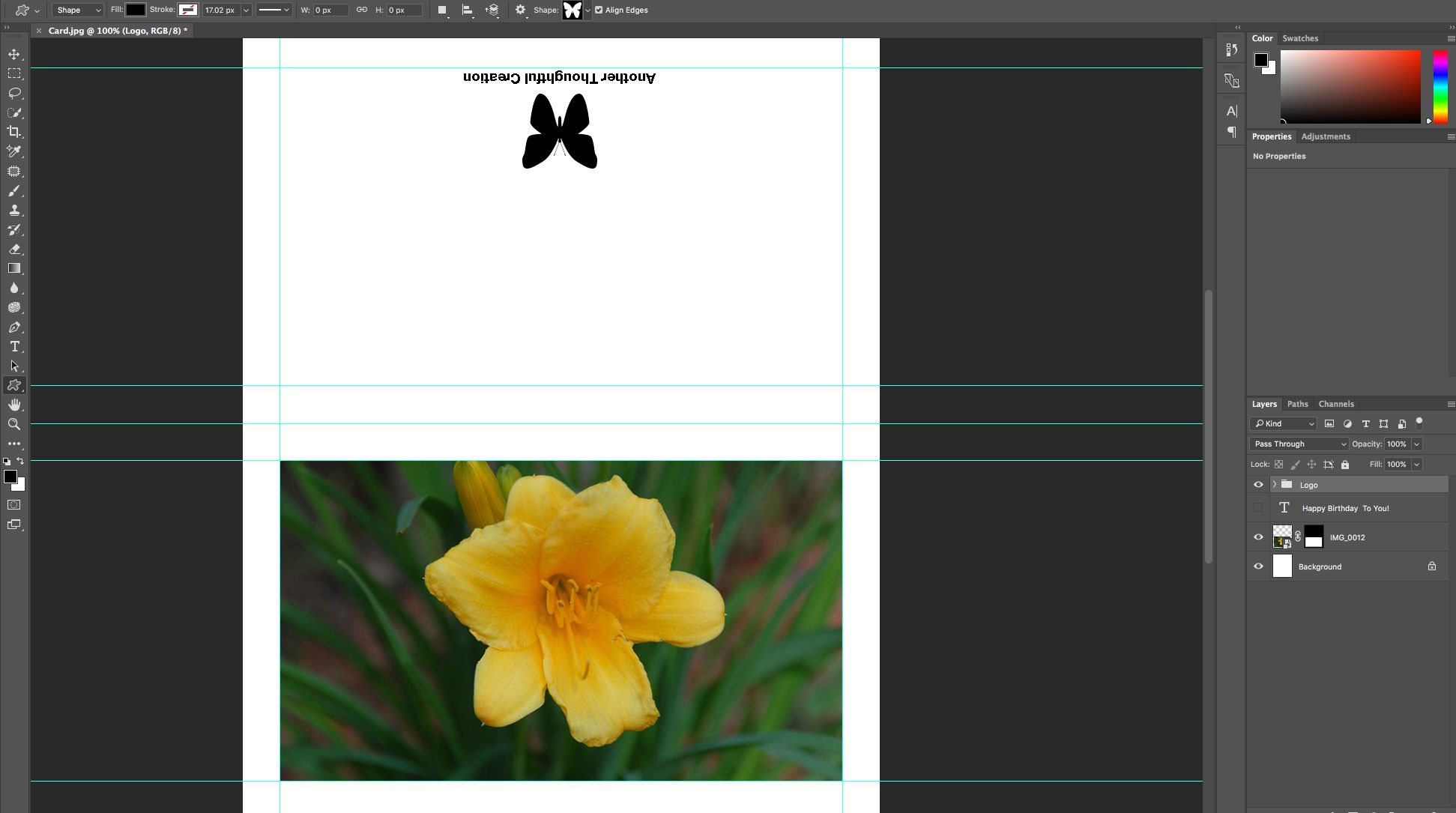 Greeting Card Template And Instructions For Adobe Photoshop
