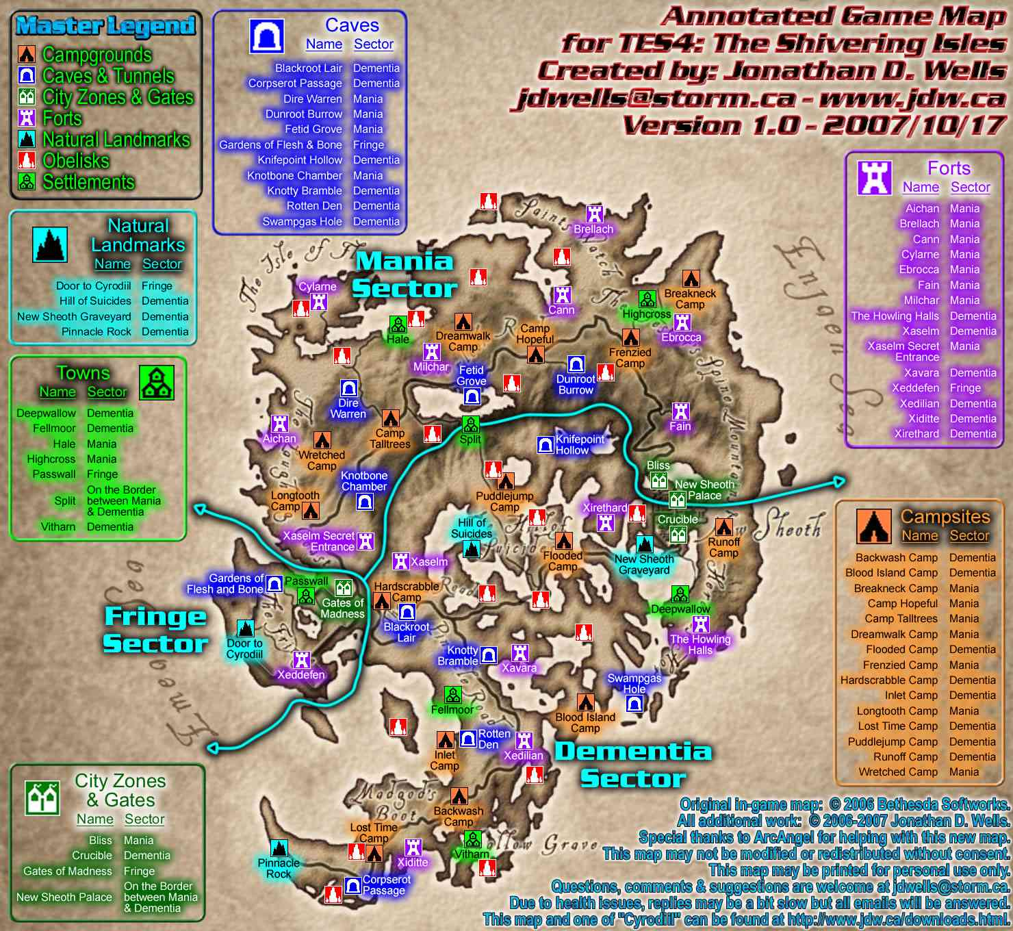 The Elder Scrolls IV Annotated and Interactive Maps on oblivion film location, oblivion houses, oblivion menu, pilgrimage oblivion elder scrolls wayshrine location, oblivion map size, oblivion pilgrimage wayshrines map, oblivion cyrodiil map,