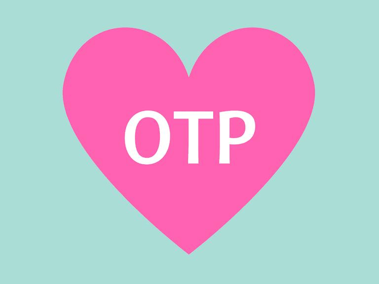 OTP inside of a heart