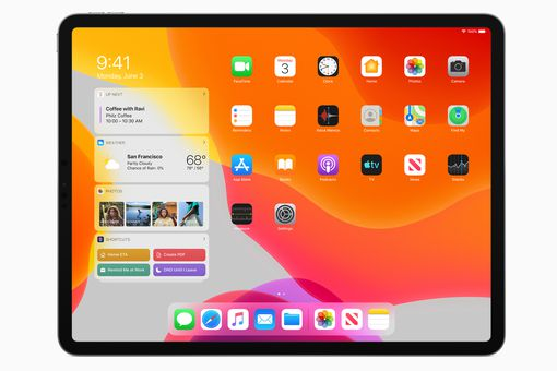 iPadOS 13 Today view with pinned widgets