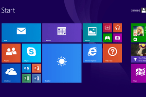 Screenshot of Windows RT 8.1 Start Menu