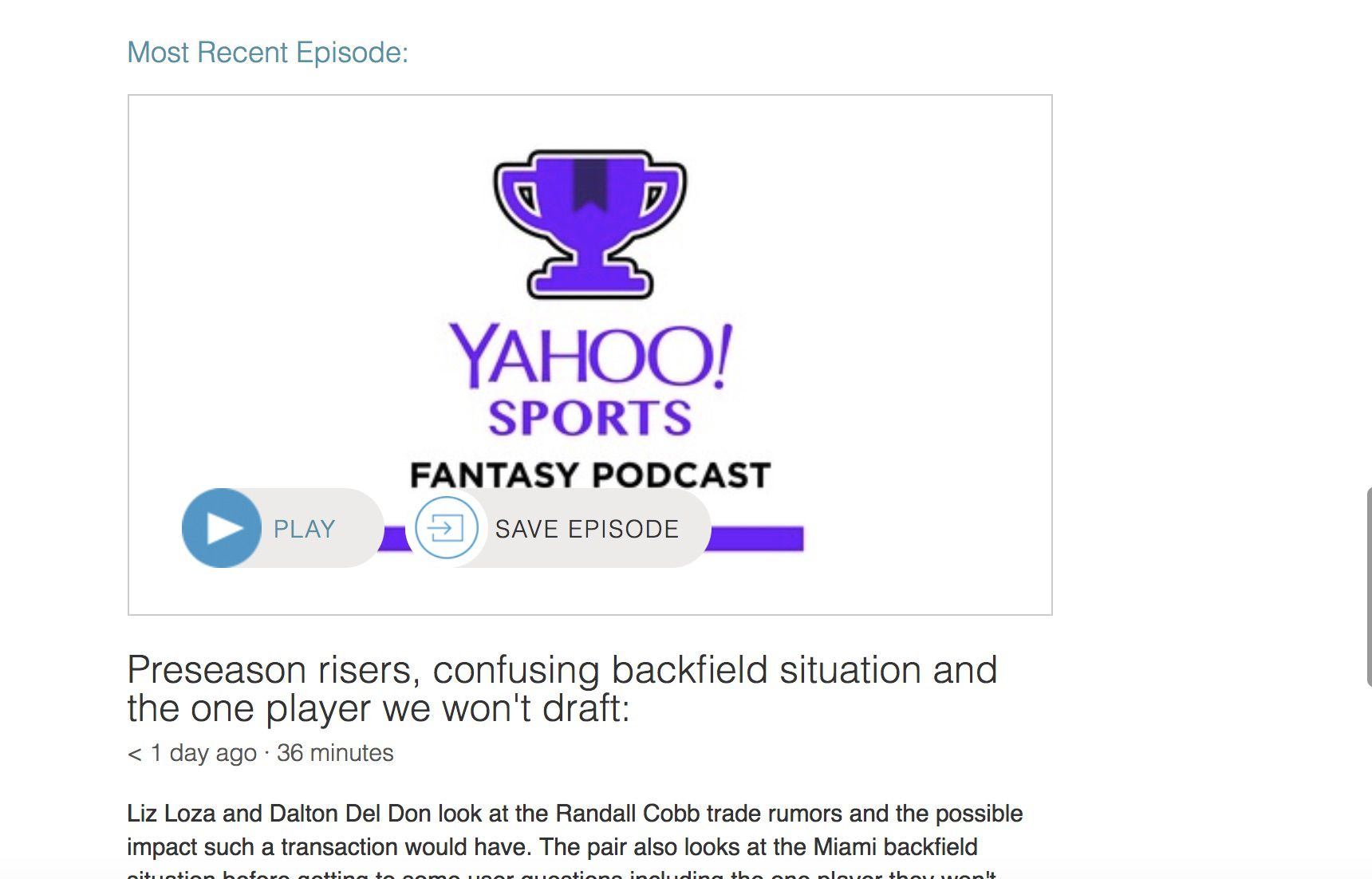 The 10 Best Free Fantasy Football Podcasts of 2019