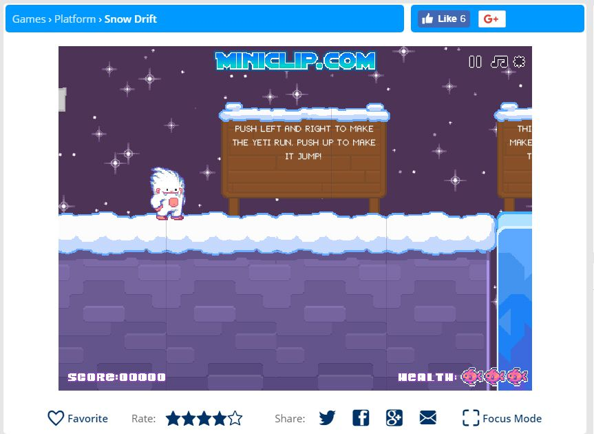 A screenshot of the game Snow Drift