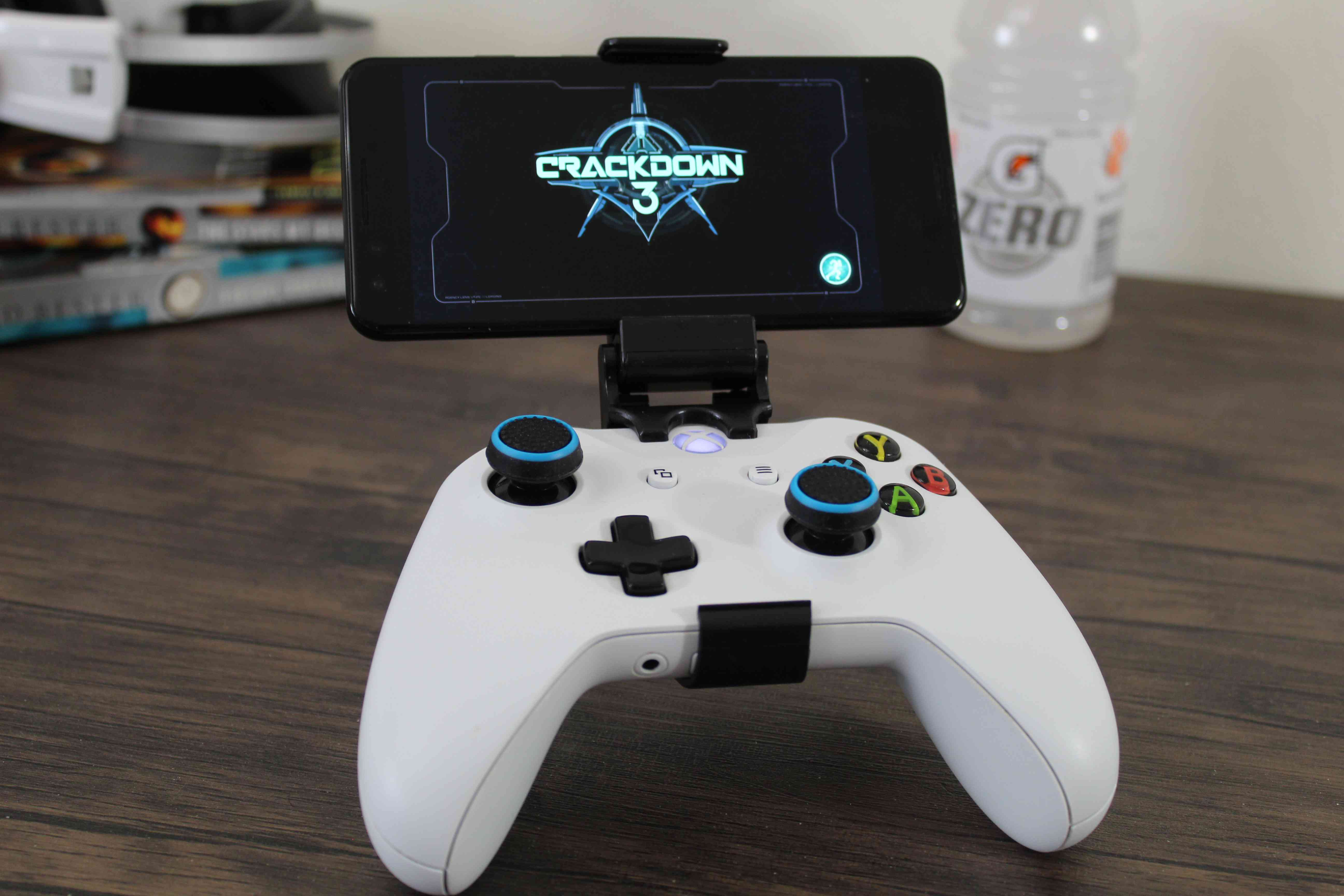 Crackdown 3 streaming to an Android phone.