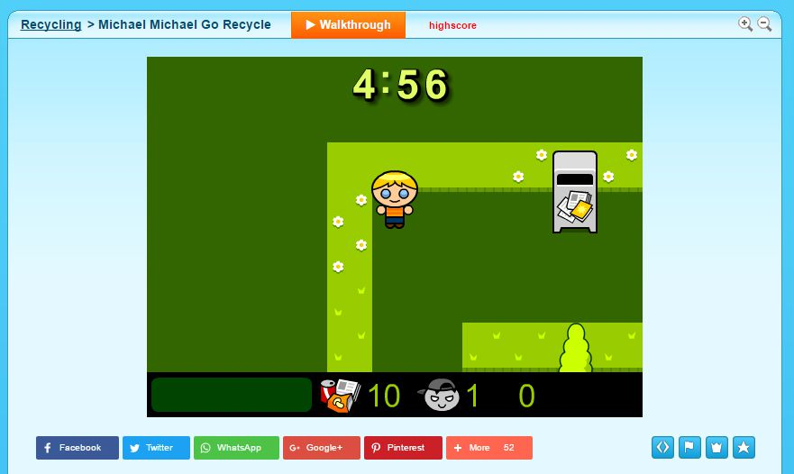 Screenshot Of The Michael Go Recycle Game