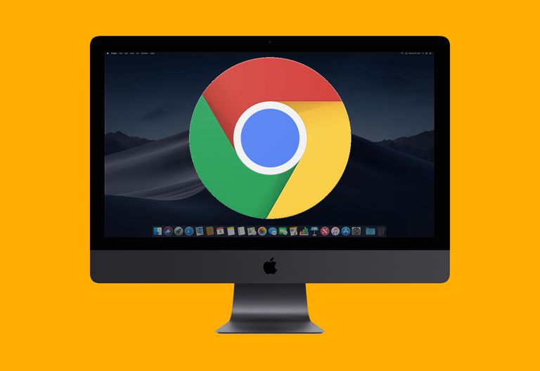 The Chrome icon on an iMac's screen
