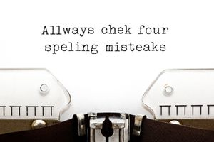 Always Check For Spelling Mistakes Typewriter Concept
