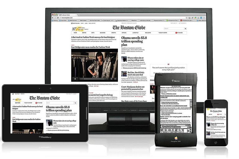 Responsive web pages work well on most devices